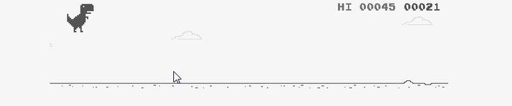 É possível brincar com o dinossauro do Google Chrome quando cair a internet.
