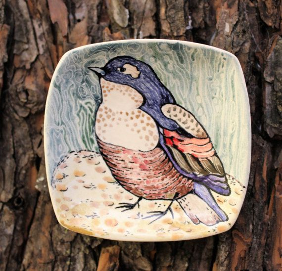Hey, I found this really awesome Etsy listing at https://www.etsy.com/ru/listing/514804275/plate-decorative-bird