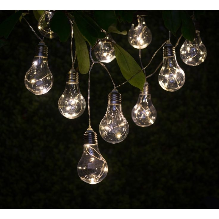 Solar Light Bulb String Lights 10pk. These contemporary light bulb string lights will add a warm glow, as well as style to your garden. Solar lights at B&M