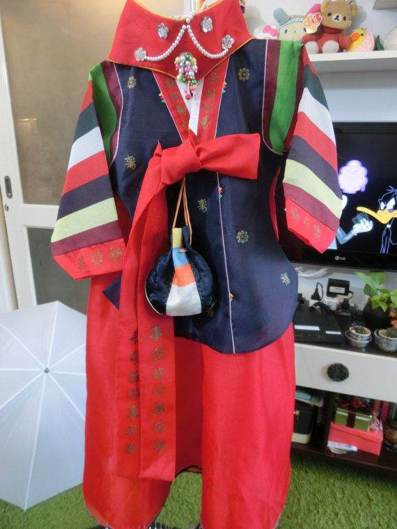 Korean Traditional Clothes Dress ROYAL HANBOK Girl  by kimonocuty