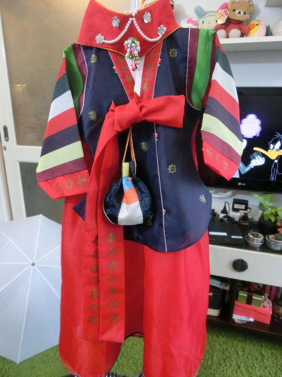 Korean Traditional Clothes Dress ROYAL HANBOK Girl  by kimonocuty
