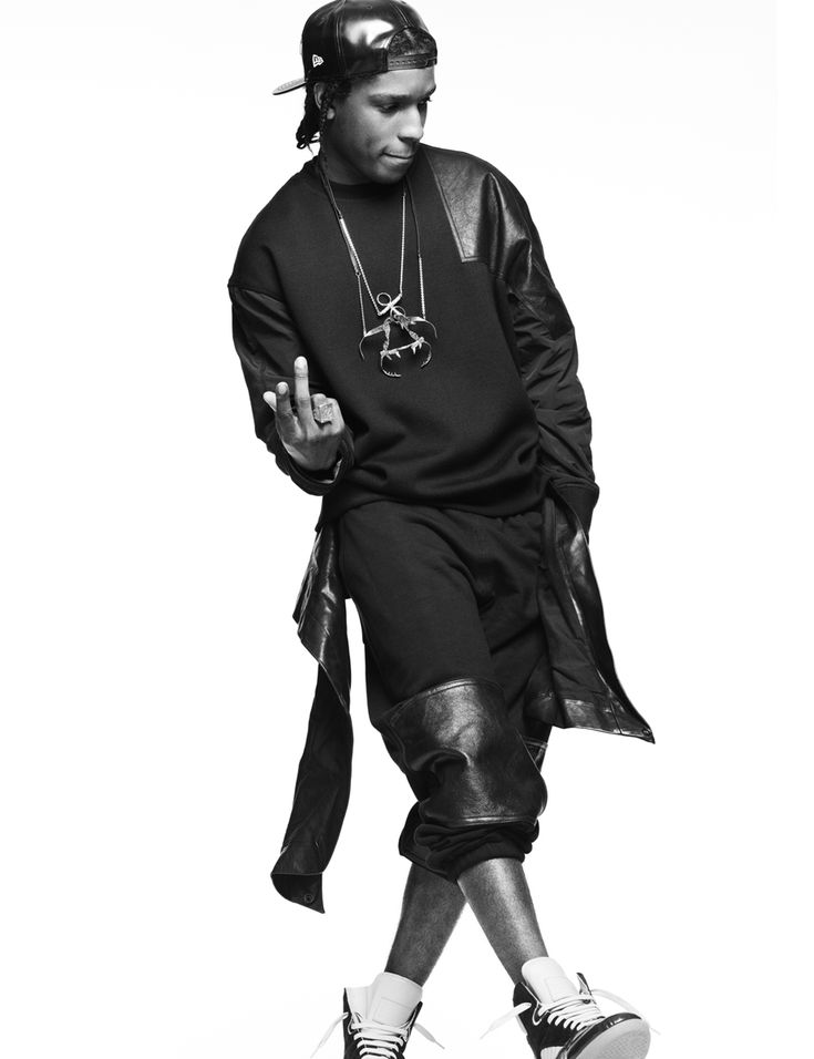 ASAP Rocky Interview Magazine 8 - I like the fleece/leather combo.  Unexpected.