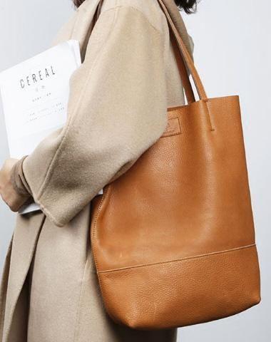 28ee99c26d647 Handmade Genuine Leather Handbag Tote Bag Shopper Bag Shoulder Bag Purse  For Women