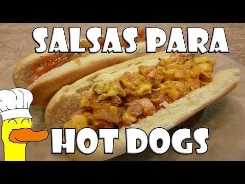 (355) Salsa para Hot Dogs - YouTube