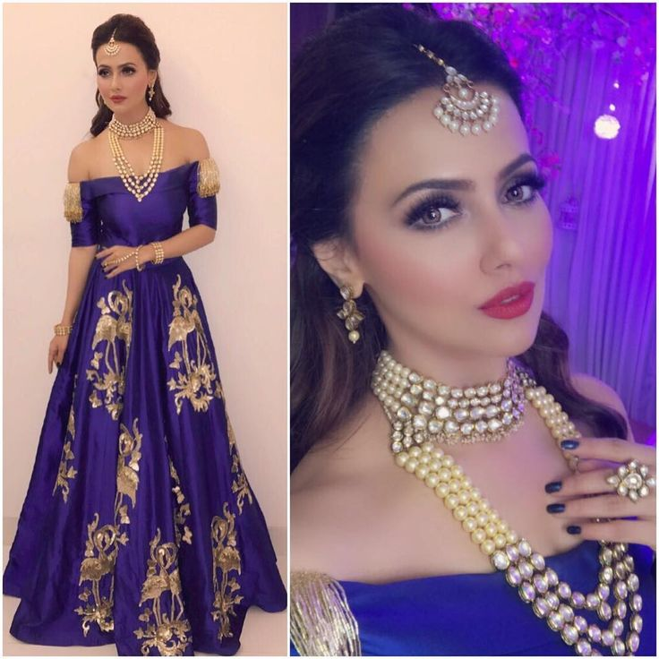 Sana Khan Outfit - @cilvanadesigns  Jewelry - @aquamarine_jewellery  Styled by - @sayali_vidya…""