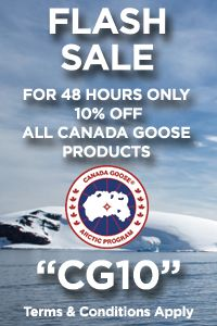 48-HOUR FLASH SALE Don't leave winter behind without a Canada Goose Jacket! Get 10% OFF all Canada Goose products!  Promo code : CG10  #canadagoose #jacket #racingtheplanet #sale #flashsale