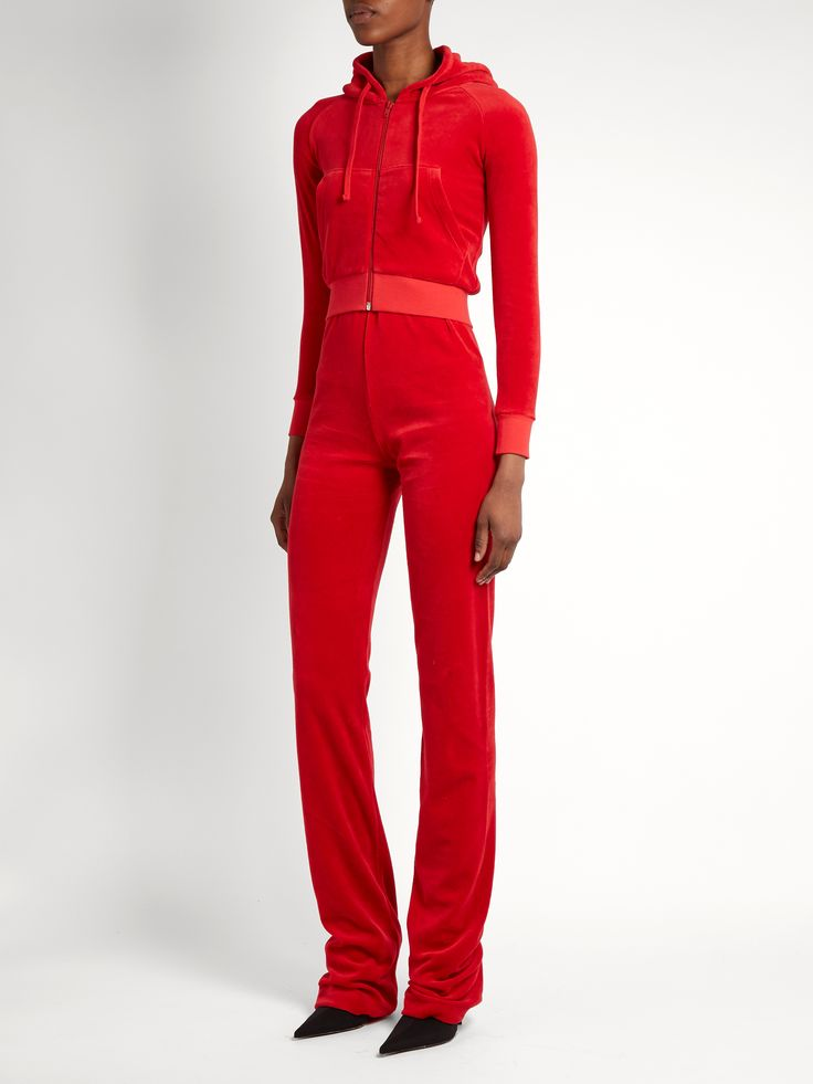 X Juicy Couture cotton-blend velour tracksuit | Vetements | MATCHESFASHION.COM