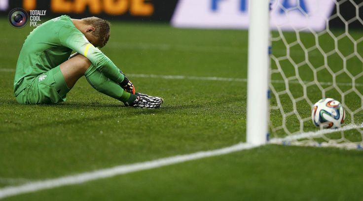 World Cup 2014: The Netherlands vs Argentina Semi-Final Highlights - Goalkeeper Cillessen of the Netherlands reacts after Argentina scores the winning goal during a penalty shootout in their 2014 World Cup semi-finals in Sao Paulo. DOMINIC EBENBICHLER/REUTERS