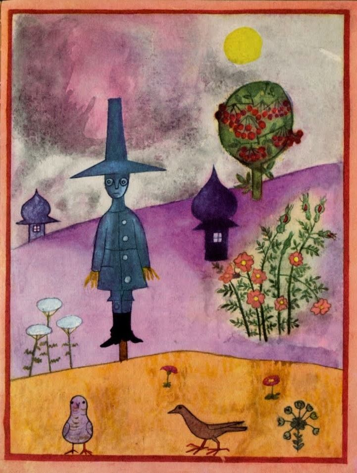 Wizard of Oz, as illustrated by Arnost Karasek, 1962, Scarecrow