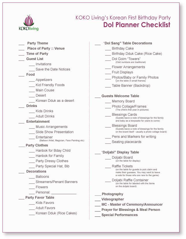 Planner checklist page 1