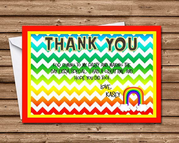 24 best Children's Birthday Party Thank You Cards images on Pinterest