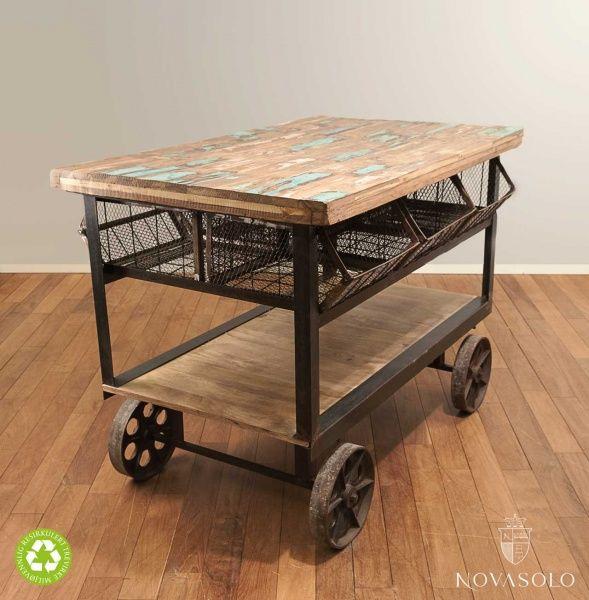 Charleston kjøkkenøy på hjul - NovaSolo.no