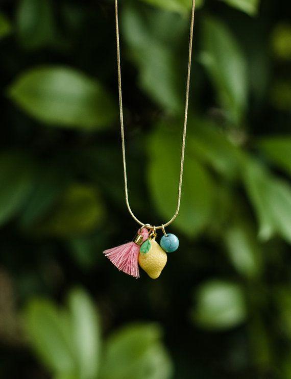 Lemon Charm Necklace | Gemma & Filo