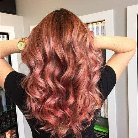 Rose Gold hair color!!