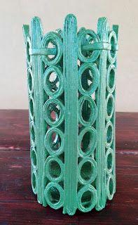 Centomilaidee: Vaso con le cannucce di carta