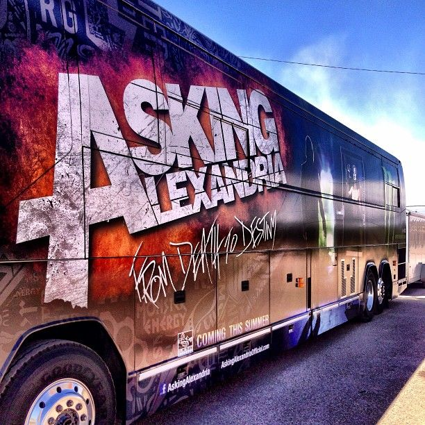 New tour bus is fucking sexy ;) who is wearing their @bb_clothing to a show this tour? :D Photo by benjaminpaulbruce #AA
