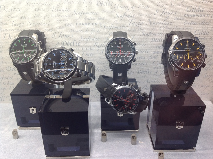 Eberhard building in their famed four face in-line chronograph with these coloured offerings.