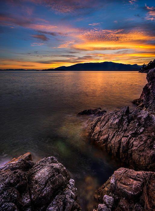 Sunset Over Bowen Island | British Columbia | Canada | Photo By Alexis Birkill