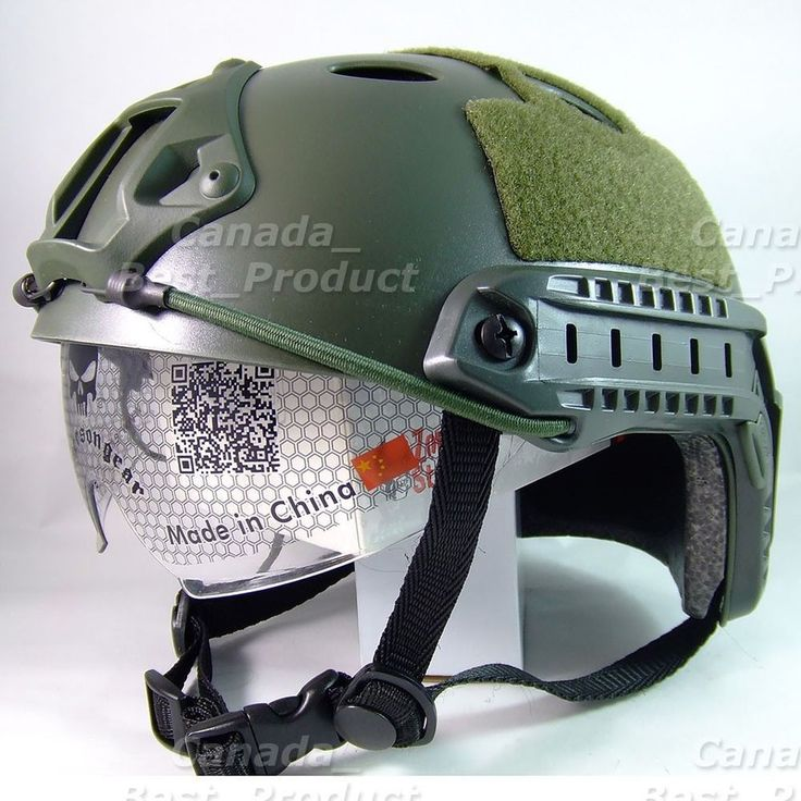 Emerson Tactical Airsoft Paintball Fast Helmet PJ Type w Protective Goggles OD