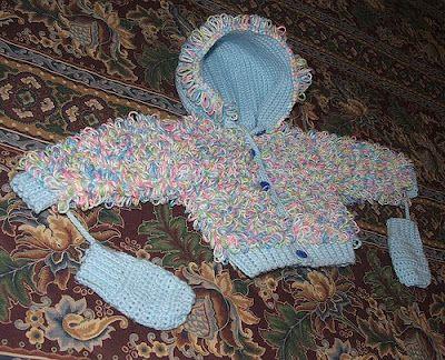 As Receitas de Crochê: Casaquinho de crochê com o ponto argola