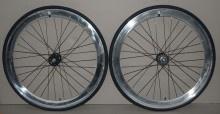 tomcat fixed gear wheelset - silver 50mm profile $165.99