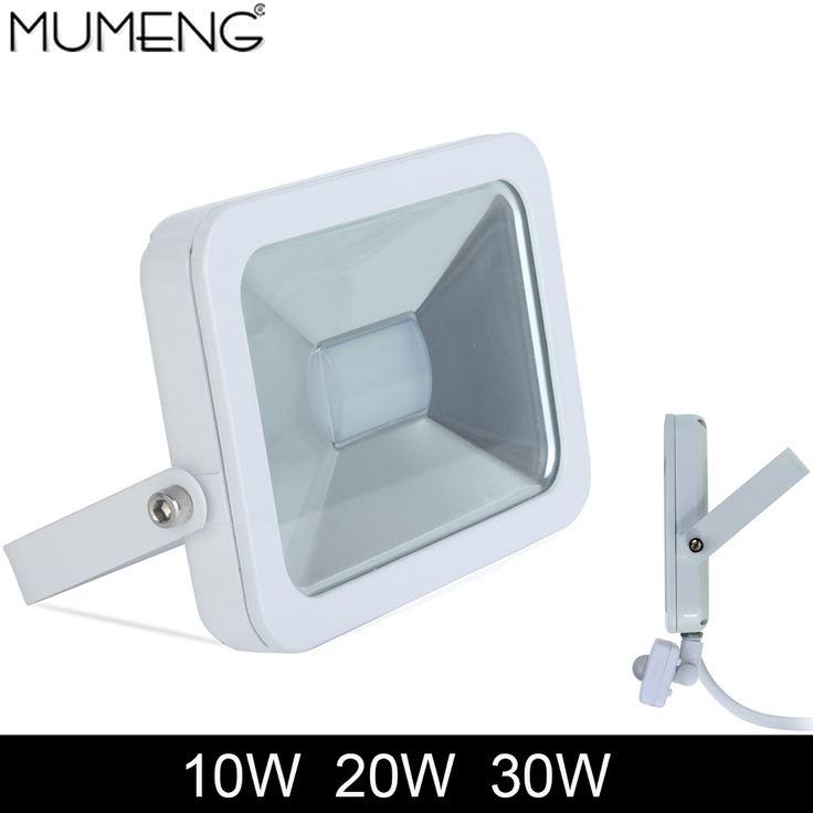 mumeng LED Motion Sensor Floodlight 10w 20w 30w led Outdoor Flood Light 220V pir Garden Light IP65 Aluminum led Spotlight