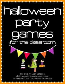 Halloween Party Games (For the Classroom) FREE!