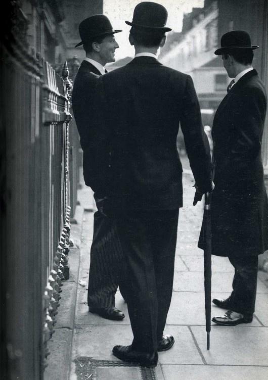 vintage bowler hats 1950s London: photo Norman Parkinson