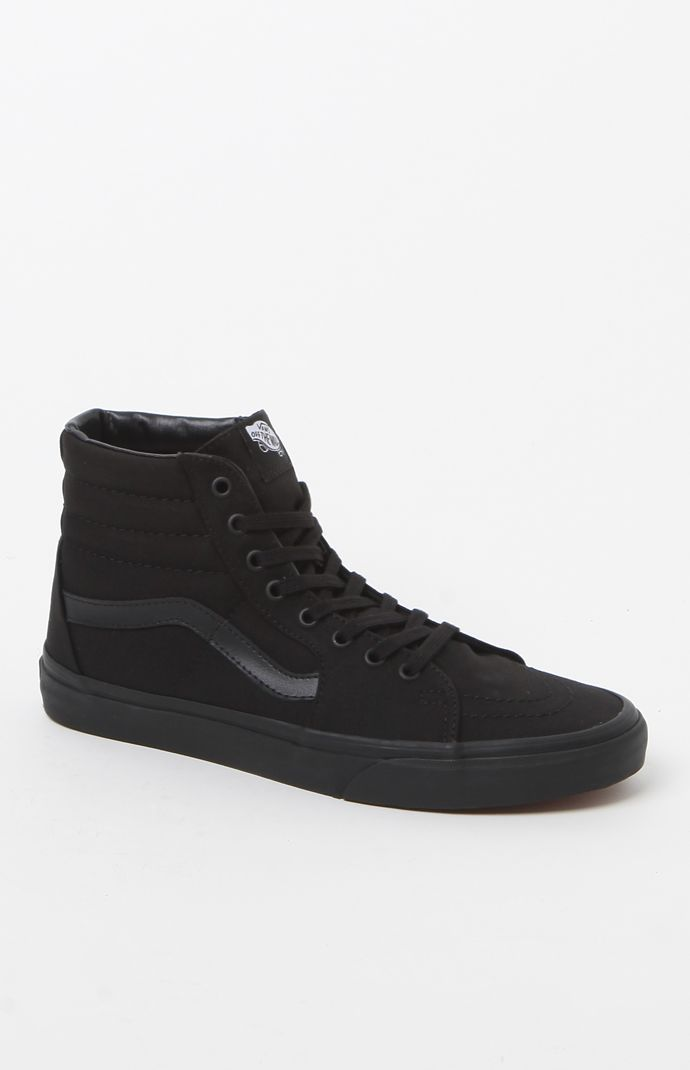 SK8-Hi Black Canvas Shoes