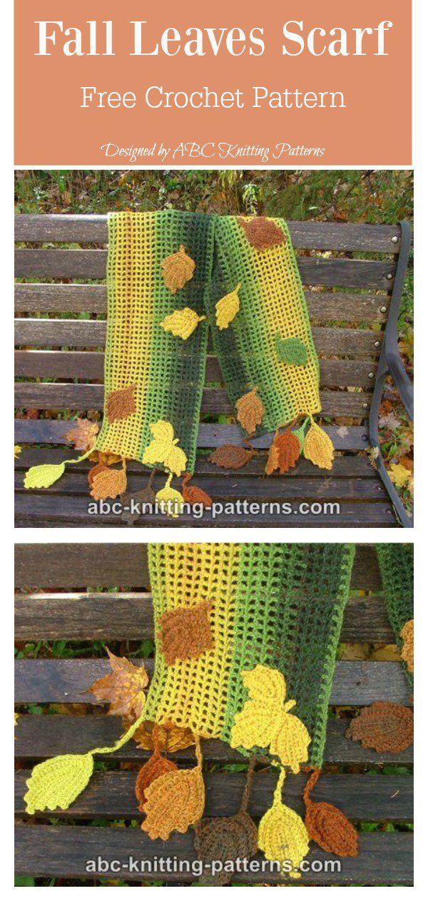 Leaf Scarf Free Crochet Pattern Crochet Pinterest Crochet