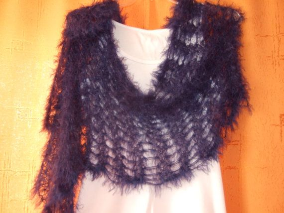 lace scarf hand knit by LadyLigaShop on Etsy