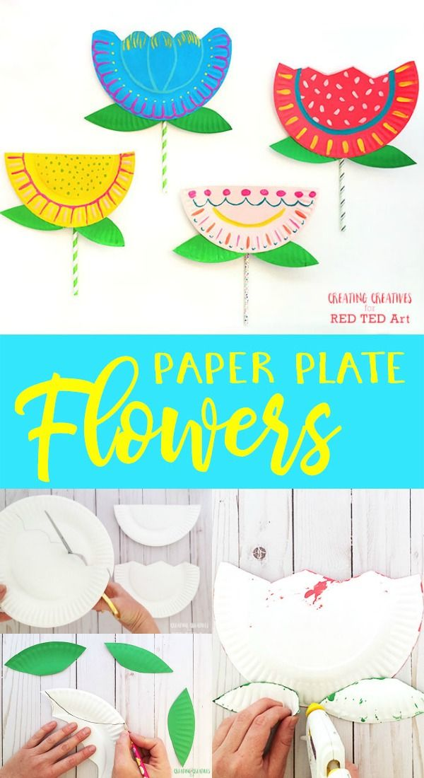 Art Project About Flowers For Preschoolers With Paper Plates