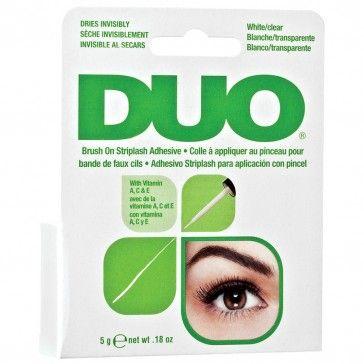 DUO Wimpernkleber mit Vitaminen Brush-On Transparent 5 g |   Wimpernkleber zum Einfachen Anbringen auf Bandwimpern!