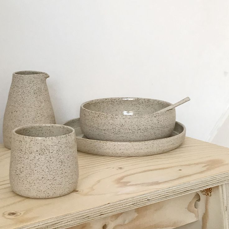 by Annemieke Boots Ceramics tableware - thrown - stoneware