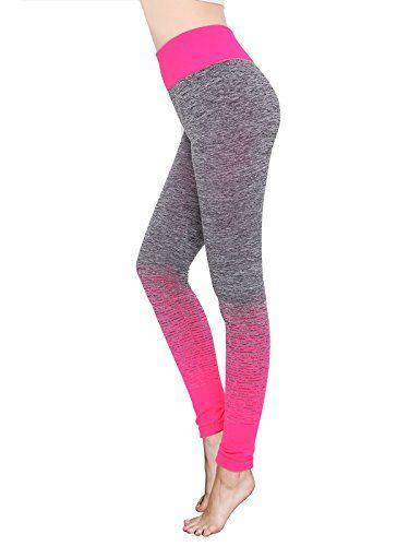 0bf8243e27d5d Women High Waist Sport Running Workout Legging Active Pants for Yoga Gym  Fitness