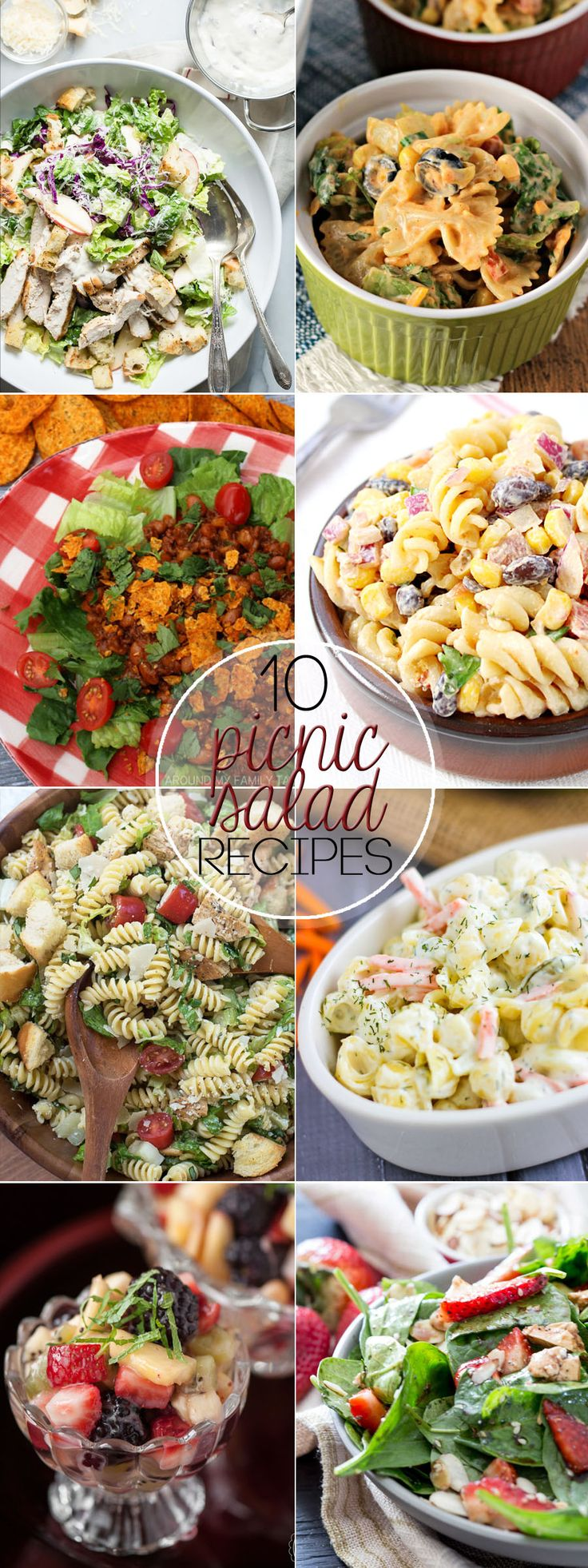 Here are 10 Picnic Salad Recipes you need for the season. Work your way through them all! Everyone will be wanting the recipes.