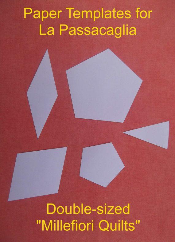 140 best Quilting - Passacaglia images on Pinterest | Millefiori ... : quilting paper templates - Adamdwight.com