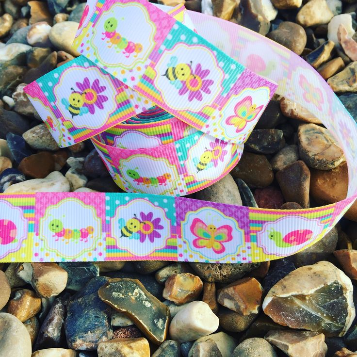 Beautiful insect ribbon! 65p per metre. Available on the website www.mrsbellesboutique.co.uk 🐛🐝🐌🦋