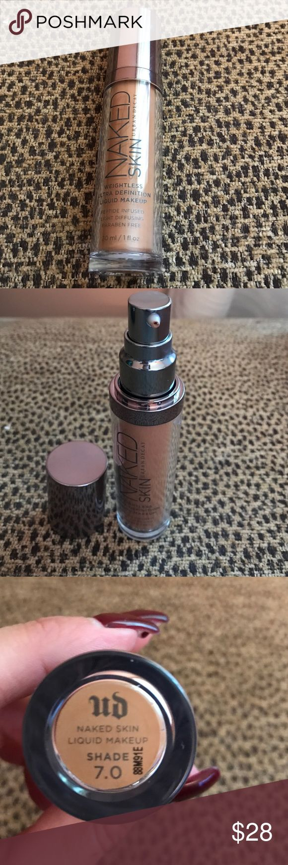 Urban Decay Naked Skin Foundation Urban Decay Naked Skin Foundation. Color is 7.0. It's only been used less than 5 times. Urban Decay Makeup Foundation