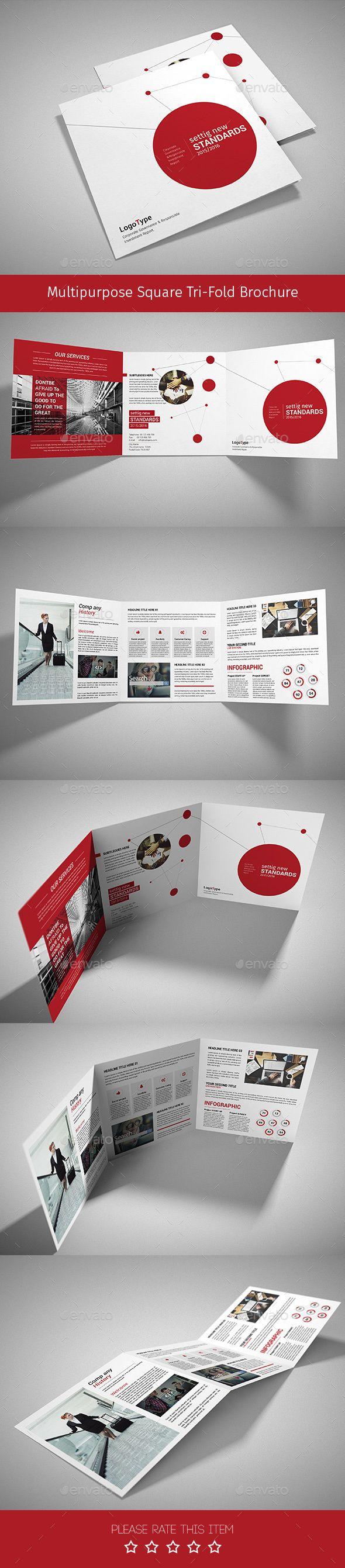 Corporate Tri-fold Square Brochure Template PSD #design Download: http://graphicriver.net/item/corporate-trifold-square-brochure-07/14342890?ref=ksioks
