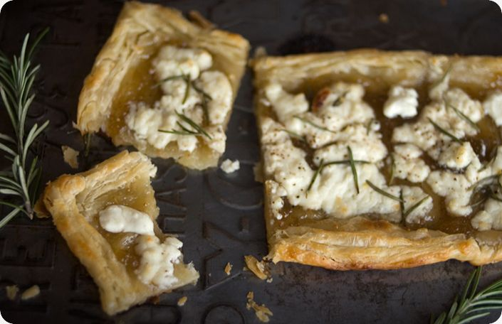 Rosemary, Fig and Goat Cheese Tart | foodcoma | Pinterest
