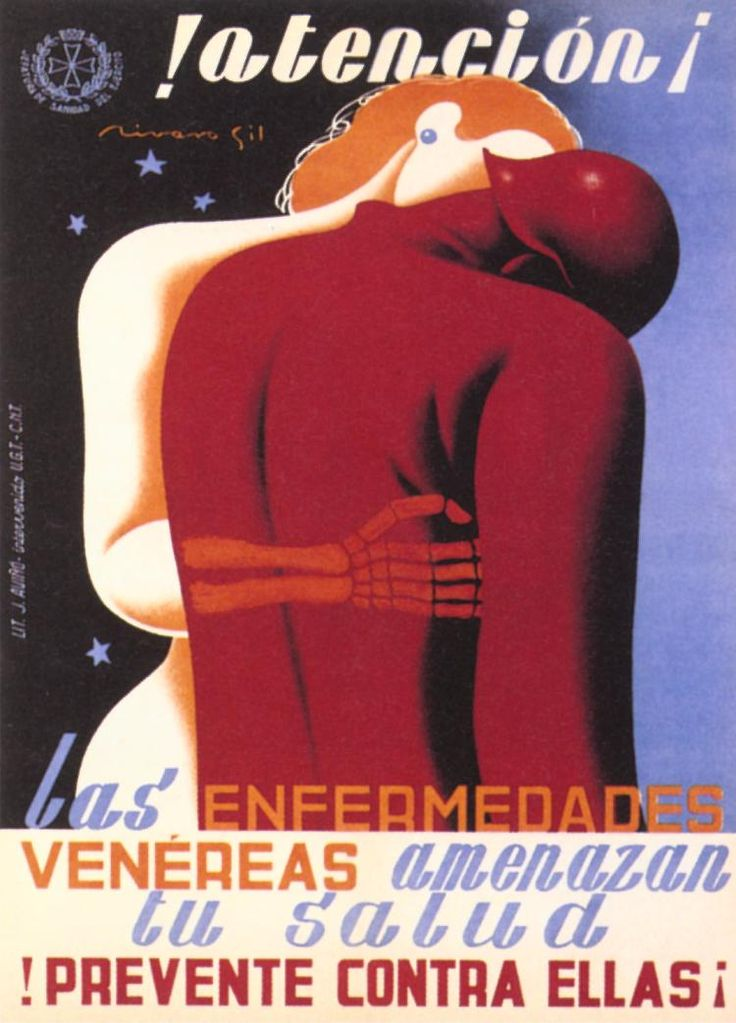 ¡Atención! (Attention!) by Francisco Rivero Gil, between 1936 and 1939. Contributor: España. Ejército de la República. Jefatura de Sanidad Militar.