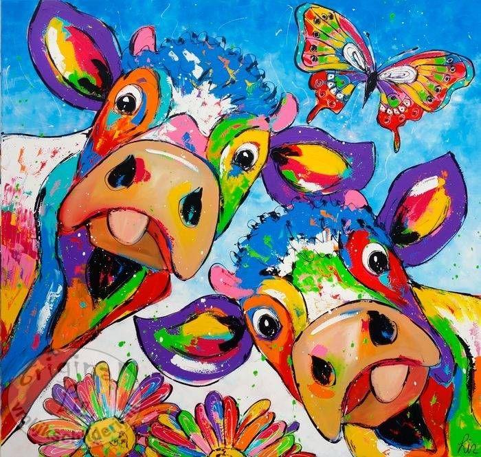 Formaat 200 x 200 Vrolijk Schilderij, Voorjaar