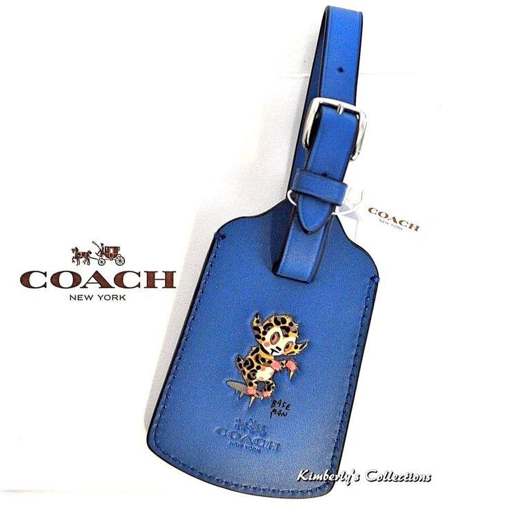 COACH Luggage Bag Baseman Buster Tag Blue Limited Edition Le Fauve Travel NWT    eBay