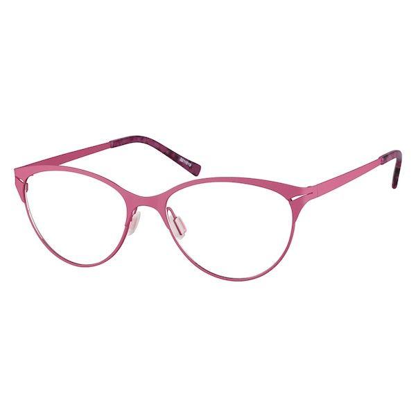 006f4518993 Zenni Womens Cat-Eye Prescription Eyeglasses Pink Stainless Steel 3211019