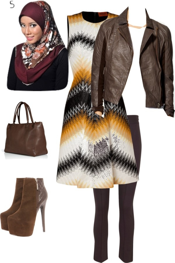 """Retro Hijab"" by sanaa-muneer on Polyvore"