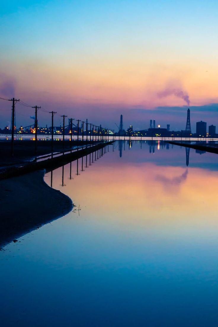Egawa Coast, Kisarazu, Chiba, Japan | Kaori Shiohata 江川海岸の夕景