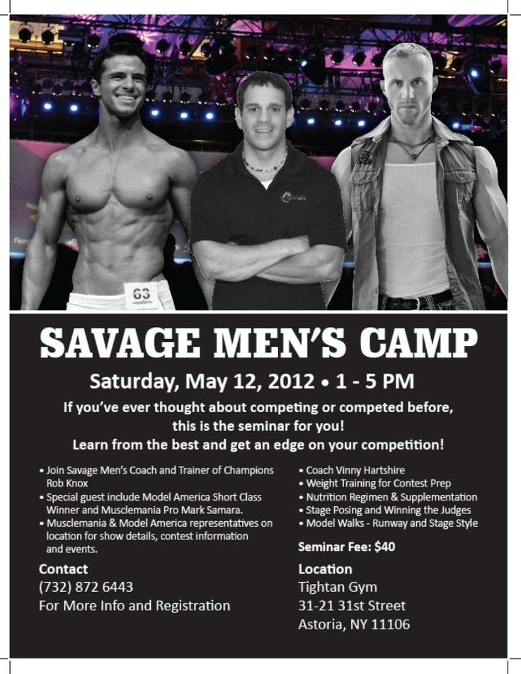 My buddy Rob Knox is hosting a special Men's Camp 5/12 for those looking to get a major edge on stage.