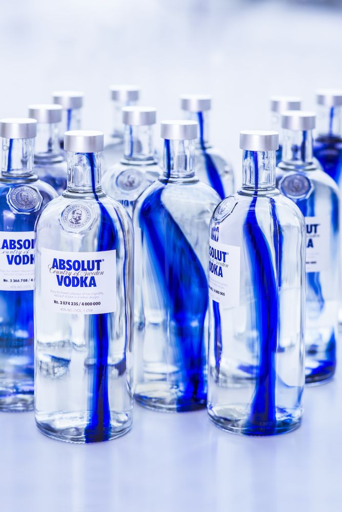 cobalt blue transforms ABSOLUT new limited edition into an art collection