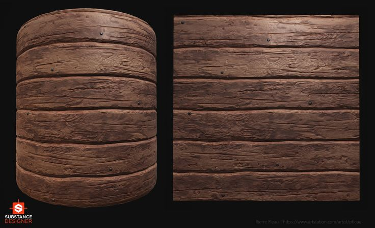 ArtStation - Substance Designer - Wood Beam., Pierre FLEAU